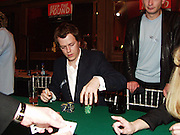 Tom Parker-Bowles. Referendum party poker evening. LEquipe Anglais. Duke St. 20 May 2002. © Copyright Photograph by Dafydd Jones 66 Stockwell Park Rd. London SW9 0DA Tel 020 7733 0108 www.dafjones.com