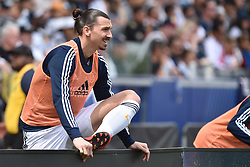 Zlatan Ibrahimović first MLS game. He scored 2 goals in 20 minutes. Los Angeles Galaxy vs Los Angeles FC MLS game at the StubHub Center on March 31, 2018 in Carson, California. Photo by Lionel Hahn/ABACAPRESS.COM