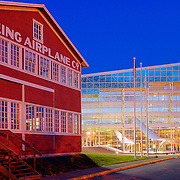 Museum of Flight and old Boeing Airplane Company building in Seattle, Washington