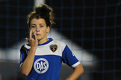 Angharad James of Bristol Academy cuts a dejected figure - Mandatory byline: Dougie Allward/JMP - 07966386802 - 05/09/2015 - FOOTBALL - SGS Wise Campus -Bristol,England - Bristol Academy Womens v Birmingham City Ladies - FA Womens Super League