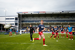 Bristol Rugby Outside Centre Jack Tovey warms up - Photo mandatory by-line: Rogan Thomson/JMP - 07966 386802 - 27/05/2015 - SPORT - Rugby Union - Worcester, England - Sixways Stadium - Worcester Warriors v Bristol Rugby - Greene King IPA Championship Play-Off Final 2nd Leg.