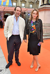 David Macmillan and Christina d'Ornano at the Royal Academy of Arts Summer Exhibition Preview Party 2017, Burlington House, London England. 7 June 2017.