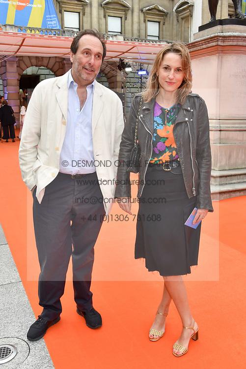 David Macmillan and Christina d'Ornano at the Royal Academy of Arts Summer Exhibition Preview Party 2017, Burlington House, London England. 7 June 2017.