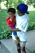Brothers visiting from Mali Africa age 13 and 2.  St Paul Minnesota USA