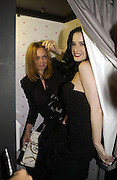 DITA VON TEESE AND STELLA MCCARTNEY. Launch of Stella McCartney collaboration with H & M. St. Olaves. Tooley St. London SE1. 25 October 2005. October 2005. ONE TIME USE ONLY - DO NOT ARCHIVE © Copyright Photograph by Dafydd Jones 66 Stockwell Park Rd. London SW9 0DA Tel 020 7733 0108 www.dafjones.com