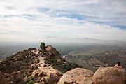 People Sitting on the Summit at Mt Rubidoux