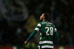October 22, 2017 - Lisbon, Portugal - Sporting's forward Bas Dost celebrates his first goal  during Primeira Liga 2017/18 match between Sporting CP vs GD Chaves, in Lisbon, on October 22, 2017. (Credit Image: © Carlos Palma/NurPhoto via ZUMA Press)