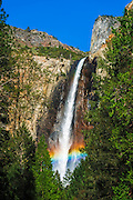 Rainbow over Bridalveil Fall, Yosemite National Park, California