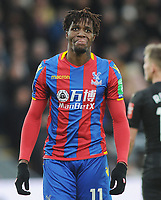 Football - 2017 / 2018 Premier League - Crystal Palace vs. Newcastle United<br /> <br /> Wilfried Zaha of Palace sticks out his tongue after another chance goes missing, at Selhurst Park.<br /> <br /> COLORSPORT/ANDREW COWIE