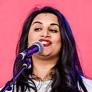 Ismaili Community Ensemble performs at the Eid festival in Trafalgar Square London to mark the end of Ramadan on 8 June 2019, London, UK.