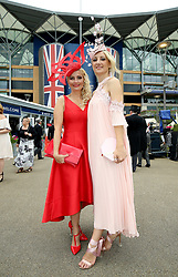 Rachel Oakes (left) Anna Pavlova arriving during day one of Royal Ascot at Ascot Racecourse.