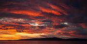 Beagle Channel sunset, Navarino Isand, Chile.