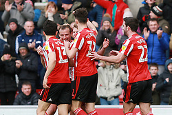 March 16, 2019 - Sunderland, Tyne and Wear, United Kingdom - Sunderland's Lee Cattermole celebrates scoring his side's first goal during the Sky Bet League 1 match between Sunderland and Walsall at the Stadium Of Light, Sunderland on Saturday 16th March 2019. (Credit: Steven Hadlow   MI News) (Credit Image: © Mi News/NurPhoto via ZUMA Press)