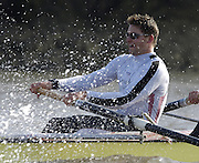 PUTNEY, LONDON, ENGLAND, 18.03.2006, Pre 2006 Boat Race Fixture, Cambridge UBC vs Leander BC.  over part of the Championship Course  from Putney to Mortlake.   © Peter Spurrier/Intersport Images  Peter Reed..[Mandatory Credit Peter Spurrier/ Intersport Images] Varsity Boat Race, Rowing Course: River Thames, Championship course, Putney to Mortlake 4.25 Miles