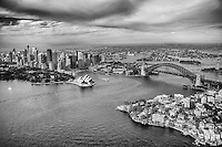 City of Sydney & Port Jackson (monochrome)