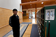 Hideki Saito, Head teacher at. Kawauchi Elementary School, Kawauchi, Fukushima, Japan. Tuesday April 30th 2013. Kawauchi was evacuated after the accidents at Fukushima Daichi nuclear plant but has been nominally decontaminated and some of the school children have returned to classes though the first grade has only seven students..