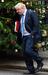 London, December 05 2017. Foreign Secretary Boris Johnson leaves 10 Downing Street following the weekly cabinet meeting. © Paul Davey