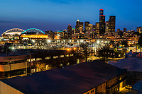 CenturyLink Field & Downtown Seattle, Blue Hour