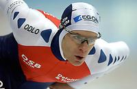 Skøyter: Verdenscup Heerenveen 11.01.2002. Jan Bos, Nederland.<br /><br />Foto: Ronald Hoogendoorn, Digitalsport