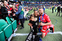 Matt GITEAU et sa famille - 02.05.2015 - Clermont / Toulon - Finale European Champions Cup -Twickenham<br />
