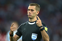 September 4, 2017 - London, England, United Kingdom - Referee Clement Turpin of France..during World Cup Qualifying - European Group F match between England  and Slovakia  at Wembley stadium, London  on 05 Sept , 2017  (Credit Image: © Kieran Galvin/NurPhoto via ZUMA Press)
