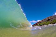 South swell came in at Big Beach on Maui.