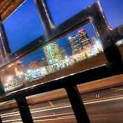 Highway loop running through downtown Kansas City, Missouri.