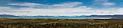 Panoramic view of Lago Argentino while driving to El Chalten, Santa Cruz Province, Argentina.