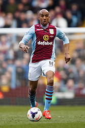 Aston Villa Midfielder Fabian Delph (ENG) in action - Photo mandatory by-line: Rogan Thomson/JMP - 07966 386802 - 23/03/2014 - SPORT - FOOTBALL - Villa Park, Birmingham - Aston Villa v Stoke City - Barclays Premier League.