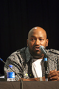 """Bun B at the Hip-Hop Summit's """"Get Your Money Right"""" Financial Empowerment International Tour draws hip-hop stars and financial experts to teach young people about financial literacy held at The Johnson C. Smith University's Brayboy Gymnasium on April 26, 2008..For the past three years, hip-hop stars have come out around the country to give back to their communities. Sharing personal stories about the mistakes they've made with their own finances along the way, and emphasizing the difference between the bling fantasy of videos and the realities of life, has helped young people learn the importance of financial responsibility while they're still young. With the recent housing market crash in the United States affecting the economy, jobs, student loans and consumer confidence, young people are eager to receive sound financial advice on how to best manage their money and navigate through this volatile economic environment.."""