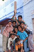 Group of local boys in Jodhpur, Rajasthan, India