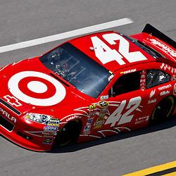 April 17, 2011; Talladega, AL, USA; NASCAR Sprint Cup Series driver Juan Pablo Montoya (42) during the Aarons 499 at Talladega Superspeedway.   Mandatory Credit: Derick E. Hingle