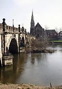 English Bridge across the River Severn, Shrewsbury, Shropshire, England, UK, 1970s