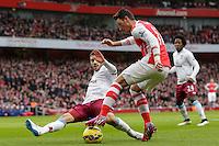 Arsenal's Mesut Ozil in action during todays match  <br /> <br /> Photographer /Craig MercerCameraSport<br /> <br /> Football - Barclays Premiership - Arsenal v Aston Villa - Sunday 1st February 2015 - The Emirates Stadium - London<br /> <br /> © CameraSport - 43 Linden Ave. Countesthorpe. Leicester. England. LE8 5PG - Tel: +44 (0) 116 277 4147 - admin@camerasport.com - www.camerasport.com
