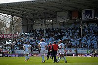 Joie supporters Racing Metro   - 05.04.2015 - Racing Metro 92 / Sarances - 1/4Finale European Champions Cup<br />Photo : Andre Ferreira / Icon Sport