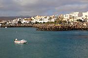 View of town harbour, Puerto del Rosario, Fuerteventura, Canary Islands, Spain