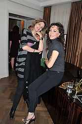 Left to right, MARTHA FIENNES and MARIE HELVIN at The Great Initiative event in association with jewellers Boodles held at The Corinthia Hotel, London on 6th November 2012.