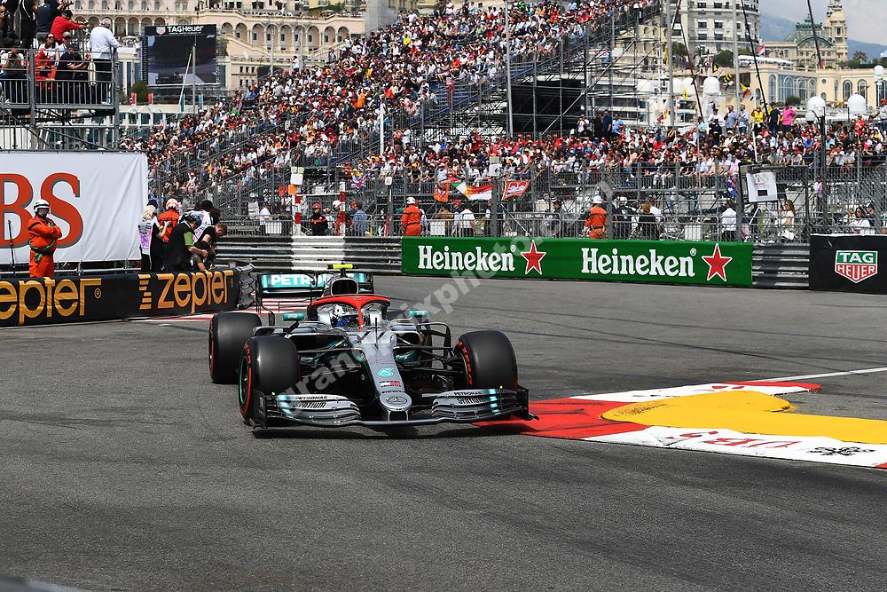 Valtteri Bottas (Mercedes) during qualifying before the 2019 Monaco Grand Prix. Photo: Grand Prix Photo