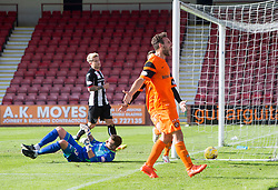 Dundee United's Tony Andrue (190 celebrates after scoring their third goal. Dunfermline 1 v 3 Dundee United, Scottish Championship game played 10/9/2016 at East End Park.