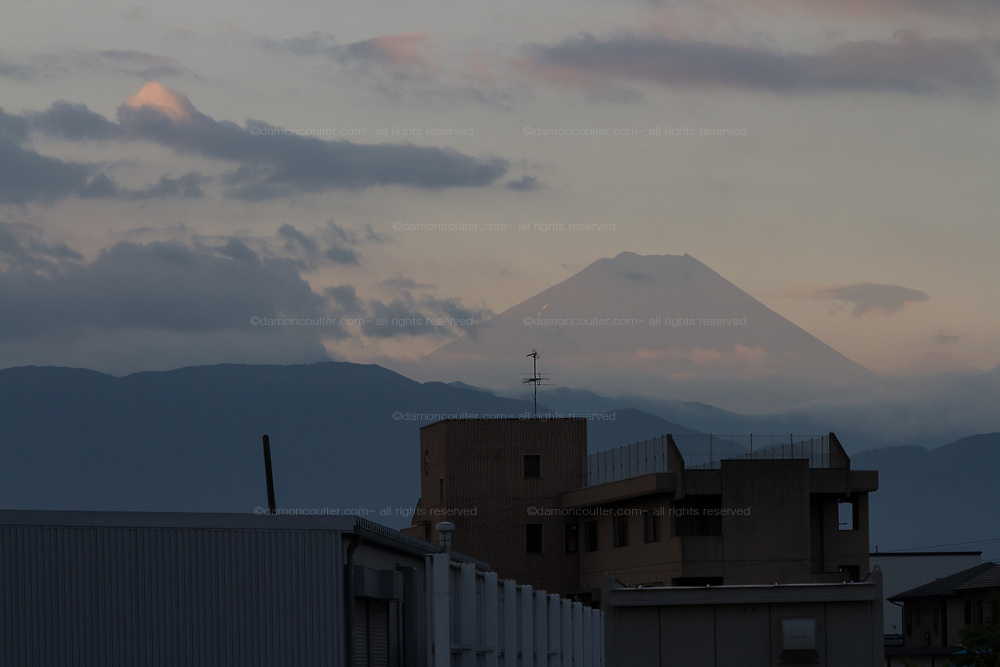 Mount Fuji at dawn from Yamanashi Prefecture, Japan.Thursday August 10th 2017