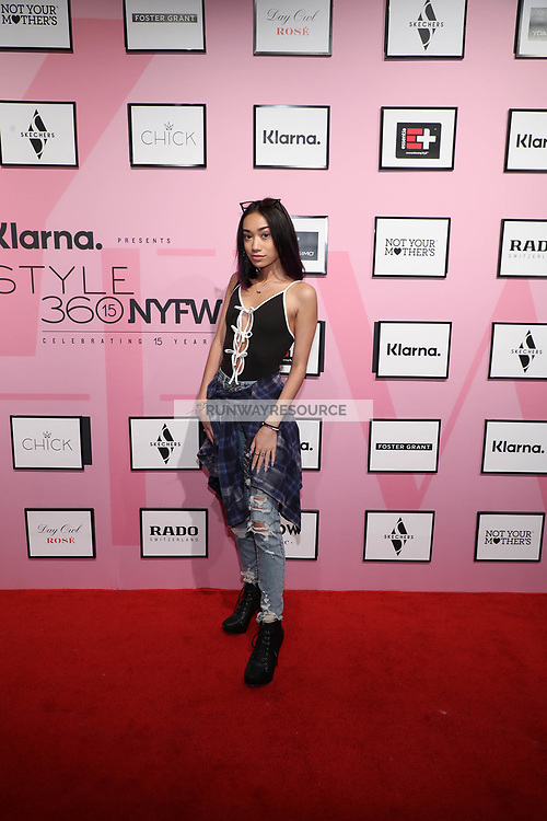 Baylee Nuzzo attends Klarna STYLE360 NYFW Hosts Chick And Ydamys Simo Runway Show