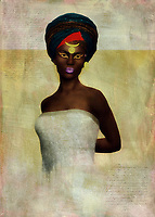 Celebrate powerful Blackness and humanity with this incredible fine art piece from Jan Keteleer. This is clearly a woman who has seen and done some incredible things in her time on earth. Pay particular attention to her pose. She is regal. She is powerful. You can also see the weight of a world that is often nearly impossible to exist in. Yet she continues to move forward. She continues to write her own narrative, and it is clearly a narrative that is meant to inspire men and women of all ages and backgrounds. You can imagine something like this just about anywhere.<br /> <br /> BUY THIS PRINT AT<br /> <br /> FINE ART AMERICA<br /> english<br /> https://janke.pixels.com/featured/monique-jan-keteleer.html<br /> <br /> <br /> WADM / OH MY PRINTS<br /> dutch / french / german<br /> https://www.werkaandemuur.nl/nl/shopwerk/Vrouw-van-de-wereld---Afrikaanse-vrouw/446513/134