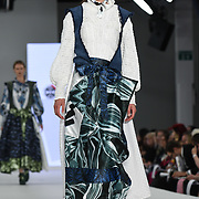 Designer Anna Victoria Pierce at the Best of Graduate Fashion Week showcases at the Graduate Fashion Week 2018, June 6 2018 at Truman Brewery, London, UK.