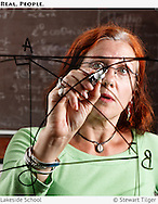 A Lakeside math teacher at work.