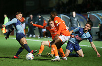 Blackpool's Connor Ronan passes to Blackpool's Marc Bola<br /> <br /> Photographer Lee Parker/CameraSport<br /> <br /> The EFL Sky Bet League One - Wycombe Wanderers v Blackpool - Tuesday 28th January 2020 - Adams Park - Wycombe<br /> <br /> World Copyright © 2020 CameraSport. All rights reserved. 43 Linden Ave. Countesthorpe. Leicester. England. LE8 5PG - Tel: +44 (0) 116 277 4147 - admin@camerasport.com - www.camerasport.com