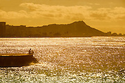 Sunrise, Diamond Head, Waikiki, Oahu, Hawaii