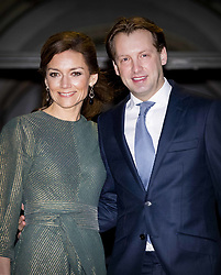 Prince Floris and Princess Aimee of The Netherlands arrive for Princess Beatrix 80th birthday reception held at the Royal Palace on Dam Square in Amsterdam, Netherlands, February 3, 2018. Photo by Robin Utrecht/ABACAPRESS.COM
