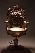 Golden chair empty