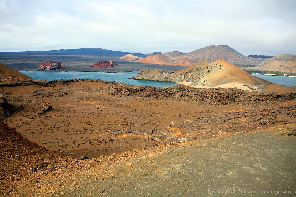 South America, Ecuador, Galapagos Islands, Bartholomew Island. Scenic landscape of Bartholomew Island.