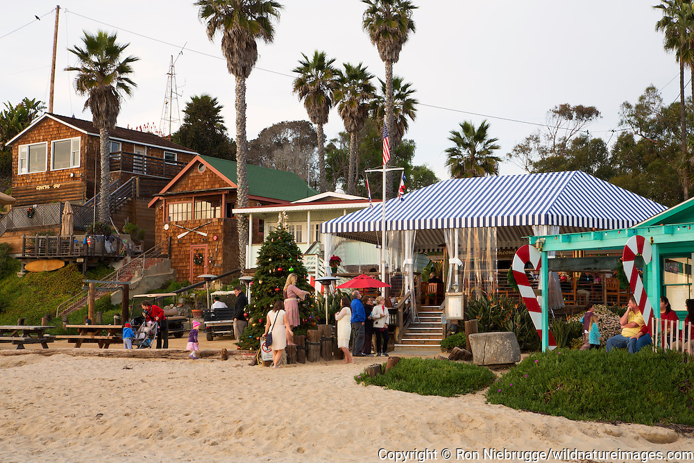 Crystal Cove Beach Cottages, Crystal Cove State Park, Newport Beach, Orange County, California.